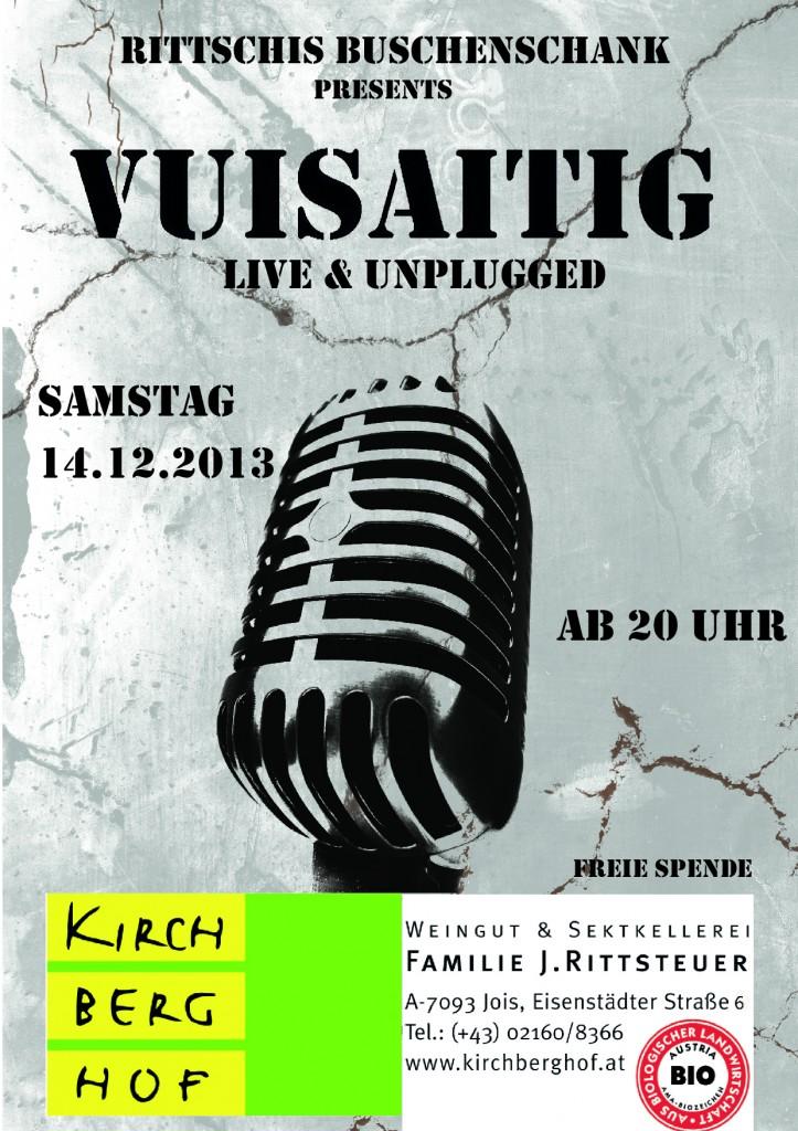 Samstag 14.12.2013 20:00 Uhr Rittschi's Buschenschank